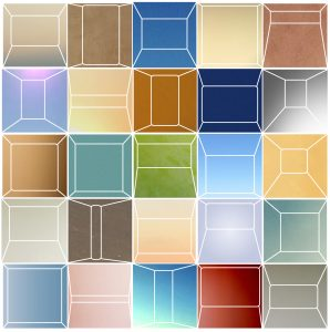frames 100 x 100 cm